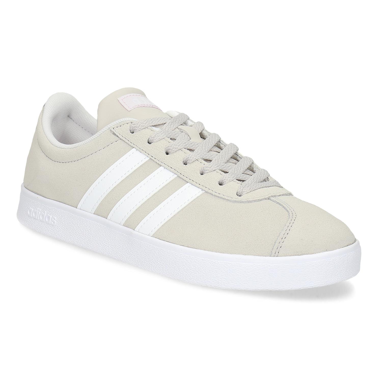 Adidas Béžové dámské kožené tenisky