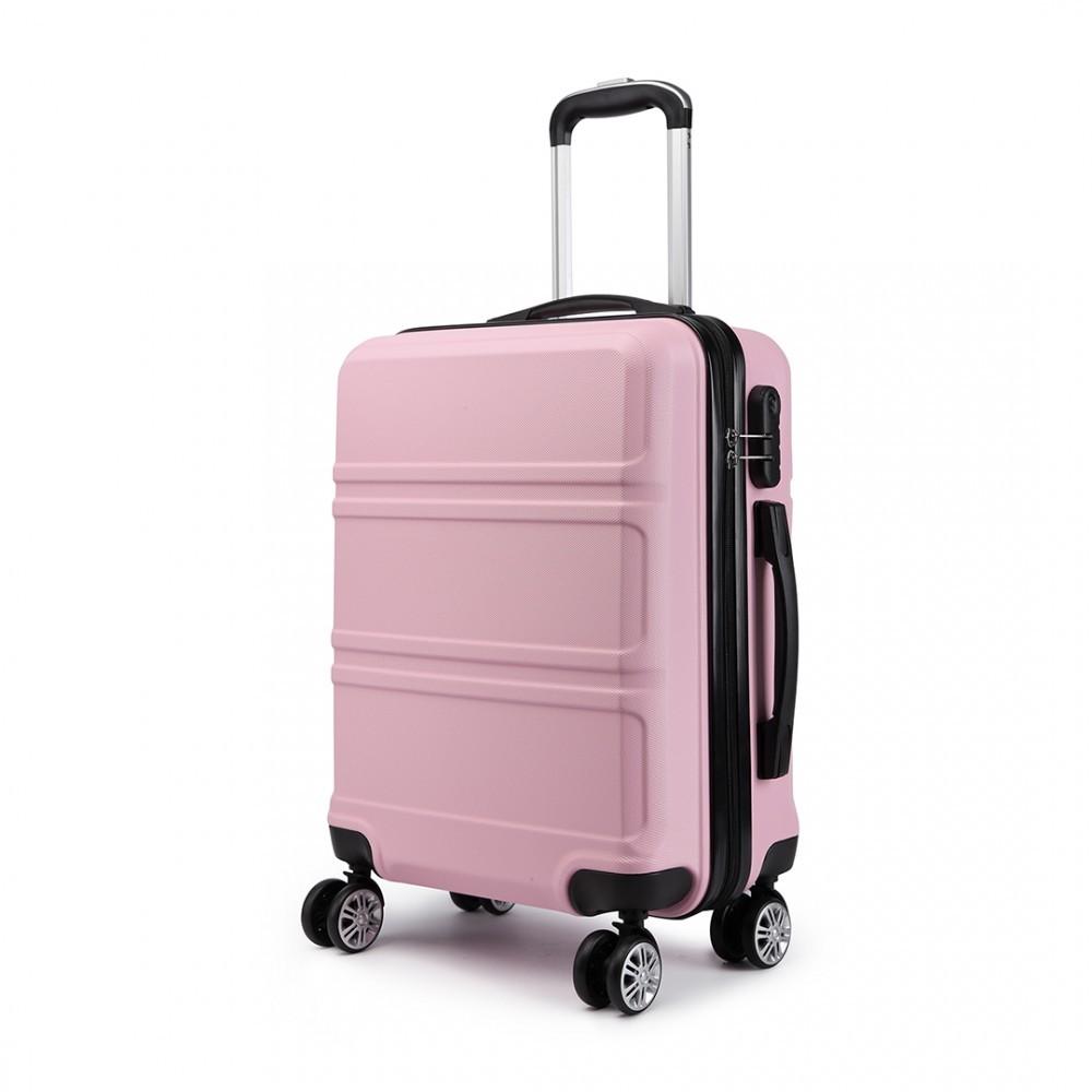 Lulu Bags Růžový cestovní malý kufr se zámkem a otočnými kolečky Perfei -  GLAMI.cz