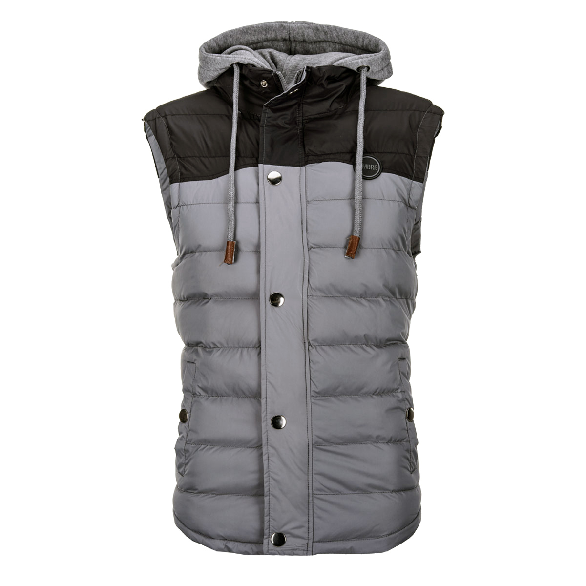 c348ef2df ... Clothing Pánská vesta s odnímatelnou kapucí Ross šedá. -30%. Ombre ...