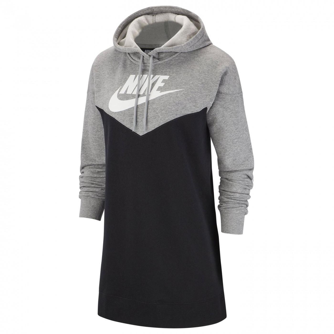 Nike Hoodie Dress Ladies Black/Grey
