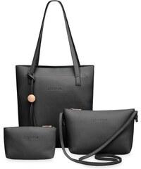 949241bf8 World-Style.cz Komplet 2v1 kabelky shopperbag, listonoška + kosmetická  kapsička - černá