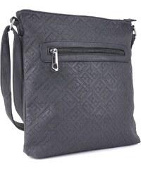 8ccddc728 Tapple Černá stylová dámská crossbody kabelka s ornamenty Haimel