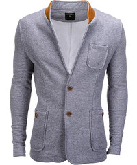 62ef0c7a1 Ombre Clothing Pánské neformální sako se záplatami na loktech Jacques šedé