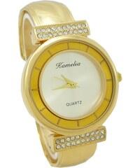 6221e362b Luxusní společenské dámské švýcarské zlaté hodinky GENEVE 585/19 ...