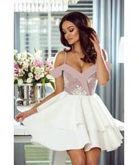 8b59b06bd EMO Smetanovo-růžové šaty Anastazja
