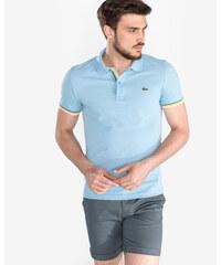 0a6187eb0 Světle modré slim fit polo tričko LACOSTE - Glami.cz