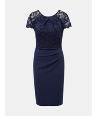 958ee2c6e Tmavě modré pouzdrové šaty s krajkou Dorothy Perkins
