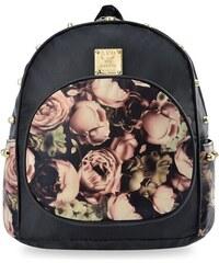 73b706ccf World-Style.cz Dámský městský batůžek s květinovým vzorem a rockovým  nádechem květinové cvočky