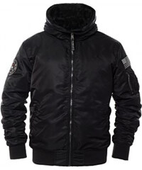 Behype. Winter Parka mit Fell Imitat Schwarz PH 1706