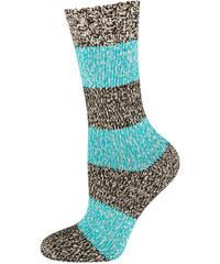 bc9cf6b593639 SOXO Dámské modré pletené ponožky Melange