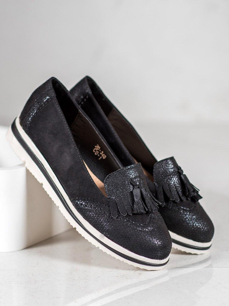 Rieker, dámské mokasíny a loafers na nízkém podpatku