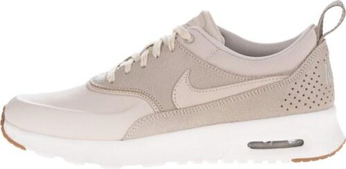 Béžové dámské kožené tenisky Nike Air Max Thea Premium ...
