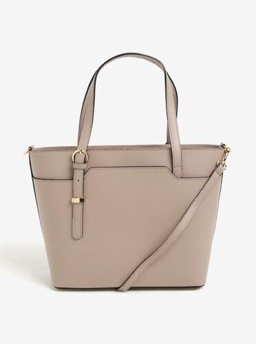 c1d20fcbd Světle růžová dámská kožená kabelka do ruky/crossbody kabelka KARA ...