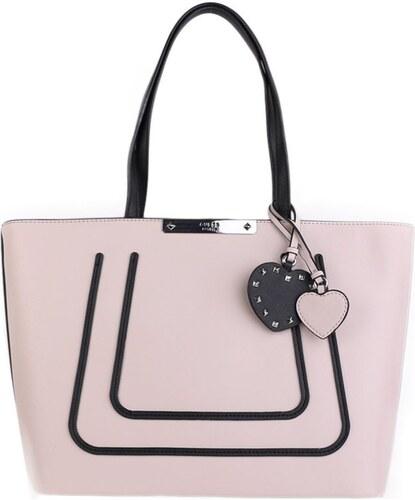 2423e1e9f Značkové kabelky Guess pro dámy VO669323 jemná růžová s černou, Sleva