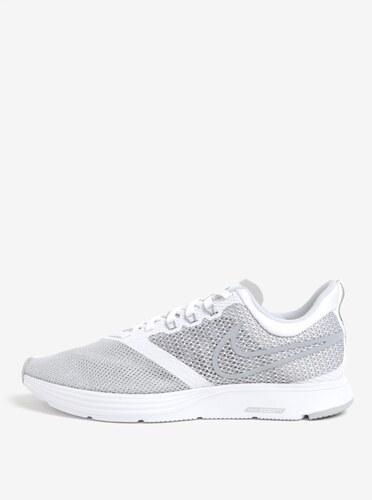 b7772e57e Šedo-bílé pánské tenisky Nike Zoom Strike Running - Glami.cz