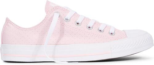 b76efcb826135 Converse růžové dámské tenisky Chuck Taylor All Star s děrováním ...