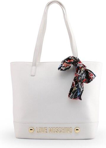 bb0171efc LOVE MOSCHINO Dámská velká kabelka typu Shopper Love Moschino Bílá ...