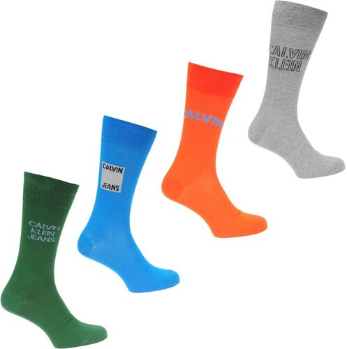 c87a7bbf7 Pánské ponožky Calvin Klein Jeans 4 v balení Multi - Glami.cz