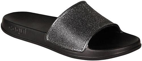 f29e4aed9 Coqui Dámské pantofle Tora Black/Silver Glitter 7082-301-2200 - Glami.cz