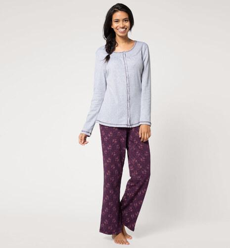 klassische Passform gut aussehen Schuhe verkaufen Neueste Mode C&A Damen Pyjama zum Knöpfen in hellgrau von Lingerie - Glami.cz