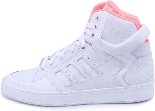 Bílé dámské kožené kotníkové tenisky adidas Originals ...
