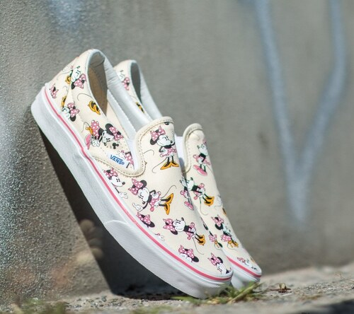 ad81e7598 Vans Classic Slip-On DISNEY Minnie Mouse/ Classic White US 5.5 ...