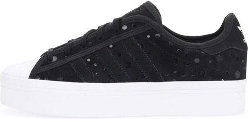 Černé dámské kožené tenisky na platformě adidas Originals ...