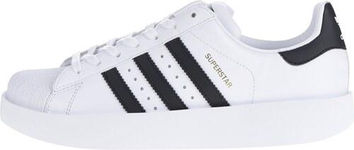 Bílé dámské kožené tenisky na platformě adidas Originals ...