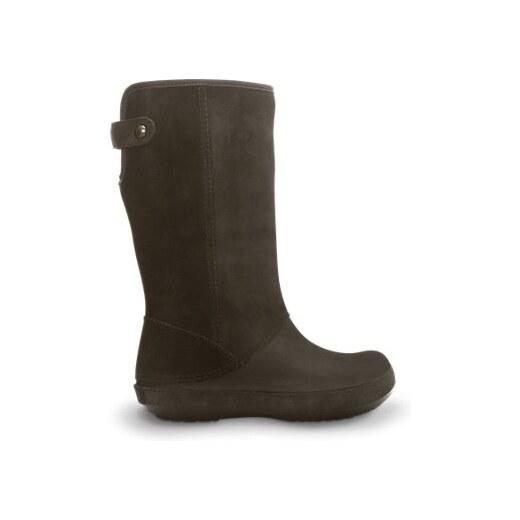 dobra tekstura Darmowa dostawa pierwsza stawka Crocs Berryessa Tall Suede Boot Espresso/Espresso, W8 (38-39 ...