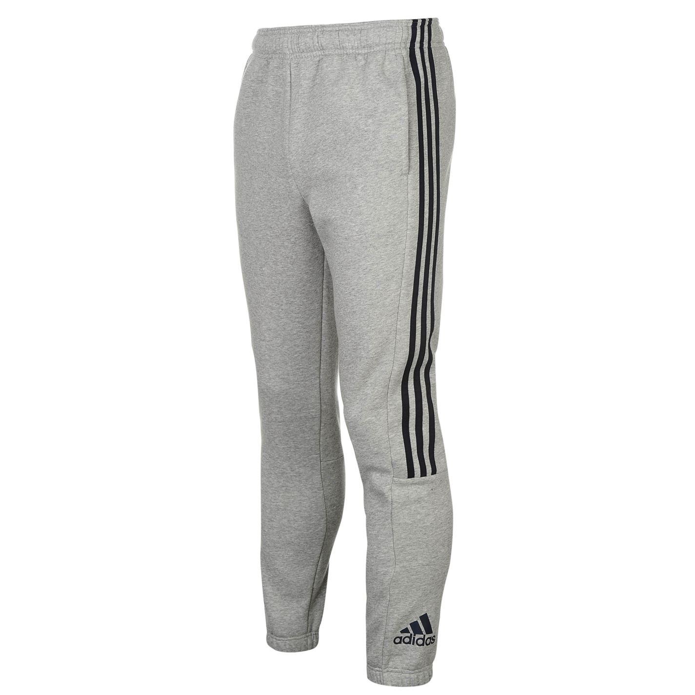 Tepláky pánské Adidas 3 Stripe Sweat MedGrey/Navy